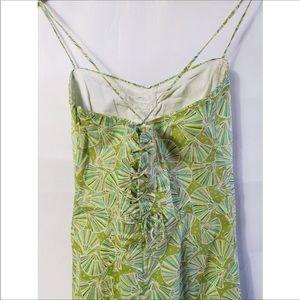 J. Crew Dresses - J Crew Green Sea Shell Spaghetti Strap Dress